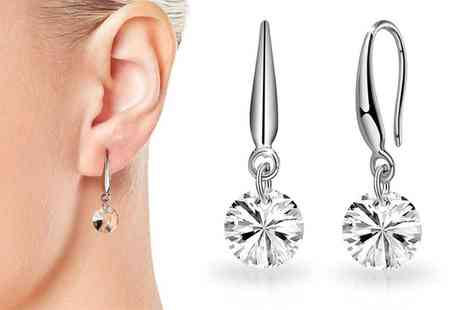 Groupon Goods Global GmbH - One or Two Pairs of Philip Jones Io Earrings with Crystals from Swarovski - Save 82%