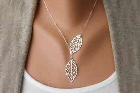 Groupon Goods Global GmbH - Couple Leaves Necklace - Save 76%
