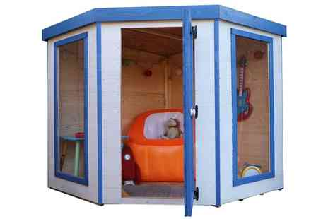 Groupon Goods Global GmbH - Mercia Kids Wooden Playhouse With Free Delivery - Save 50%