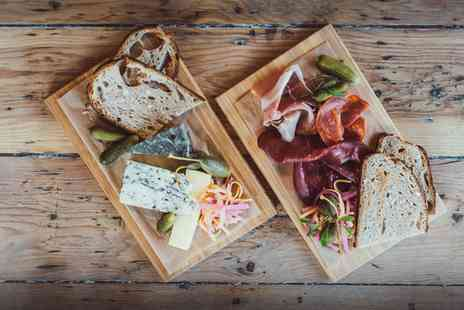 Bocelli 1831 - Charcuterie and Cheese Board with Glass of Wine for Two or Four - Save 38%