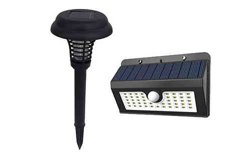 Black Sheep - Solar Powered Bug Zapper & Motion Sensor Light - Save 62%