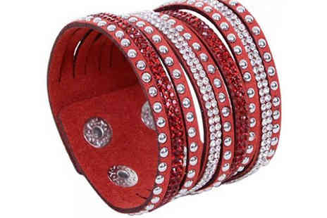 YEPKO - Swarovski Elements Flora Cuff Bracelets Available in 2 Colours - Save 83%