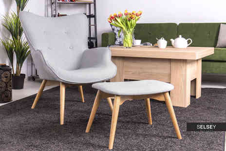 Selsey Living - Blomster designer armchair or Blomster armchair and footstool - Save 47%