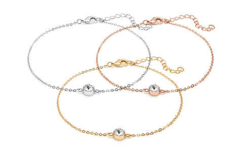 Lily Spencer London - Anklet made with crystals from swarovski choose from three colours - Save 85%