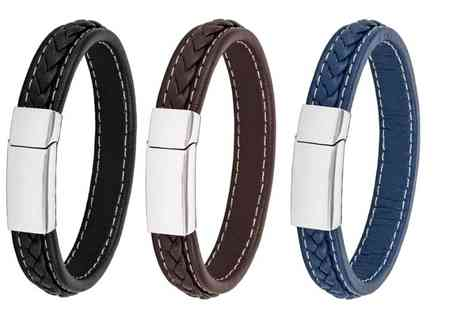 GameChanger Associates - Mens honour leather bracelet - Save 82%