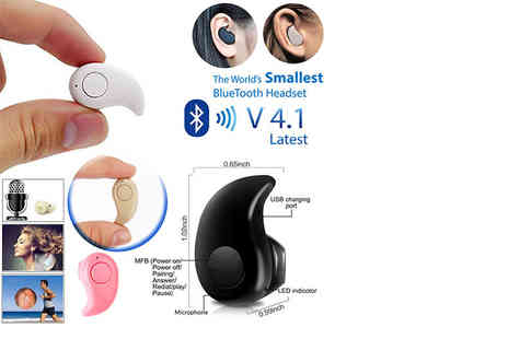 TMD Global - Mini wireless bluetooth earpiece - Save 81%