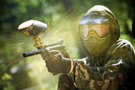 Outdoor Pursuits - Day of Paintball with 100 Balls for Six or 12 - Save 90%