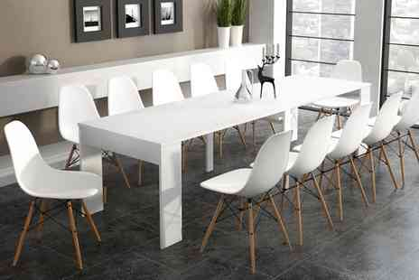 Groupon Goods Global GmbH - Extending Dining Table in Choice of Colour With Free Delivery - Save 0%