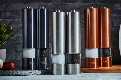 Groupon Goods Global GmbH - Cooks Professional Salt and Pepper Mill Set - Save 0%