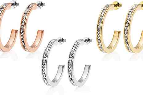 Groupon Goods Global GmbH - One, Two, or Three Pairs of Philip Jones Hoop Earrings - Save 0%