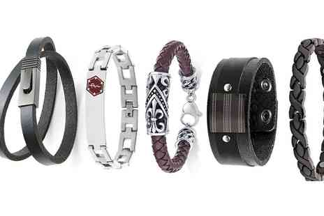 Groupon Goods Global GmbH - Mens Stylish Bracelet in Choice of Design - Save 0%