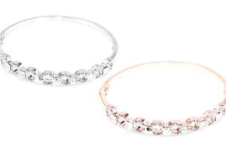 Groupon Goods Global GmbH - One or Two Victorias Candy Davina Bangles with Crystals from Swarovski - Save 0%