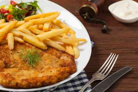 The Buck Inn - Chicken Schnitzel Meal for Two or Four - Save 0%