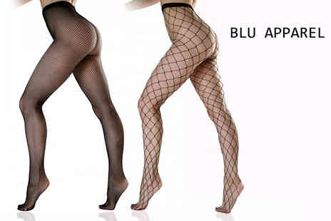 Bluebell Retail - Pack of three fishnet tights - Save 62%
