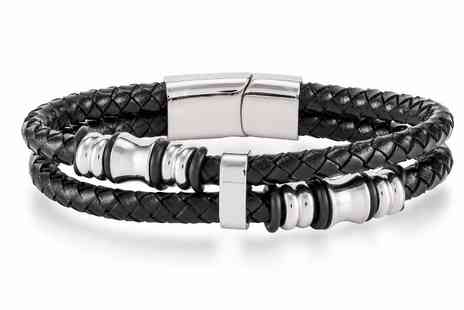 GameChanger Associates - Mens leather wrap bracelet - Save 78%