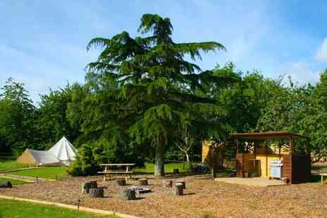 Oaklodge Retreat - Two night luxury bell tent glamping stay for up to four with a standard breakfast, spa and hot tub access and BBQ pack - Save 58%