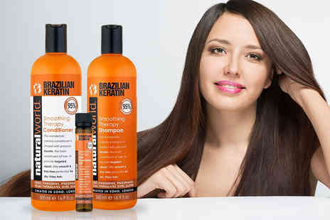Jynx Direct - Brazilian keratin hair care set, or get two sets - Save 77%