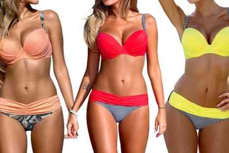 Groupon Goods Global GmbH - Gathered Pushup Bikini Set - Save 0%