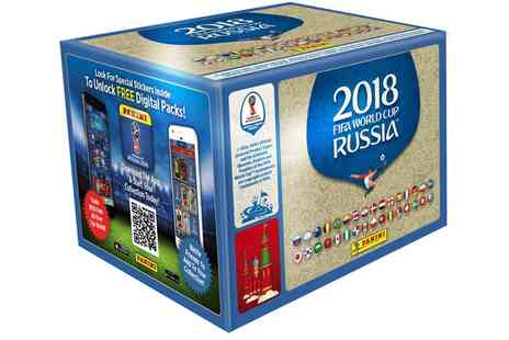 Groupon Goods Global GmbH - Panini FIFA World Cup 2018 Collection 100 or 200 Sticker Packs with Optional Starter Pack With Free Delivery - Save 0%