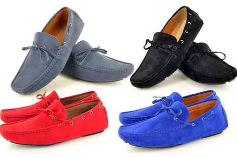 Groupon Goods Global GmbH - Mens Casual Faux Suede Loafers Moccasins - Save 0%