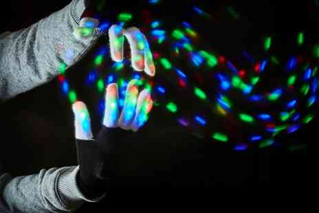 Groupon Goods Global GmbH - One or Two Pairs of Led Light Up Gloves - Save 0%