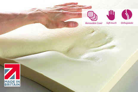 Beds24hr - 1 inch memory foam topper with cover choose from five sizes - Save 74%