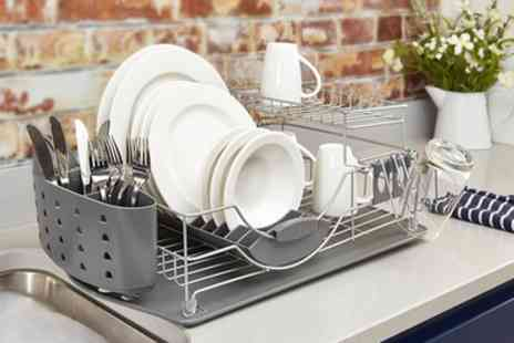 Groupon Goods Global GmbH - Tower Two Tier Dish Rack with Cutlery Holder - Save 67%