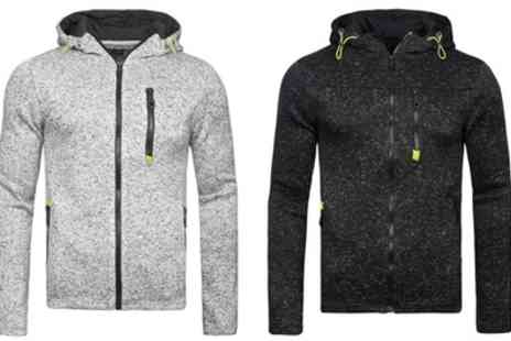 Groupon Goods Global GmbH - Mens Reflective Marl Full Zip Hoodie - Save 60%