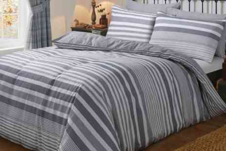 Groupon Goods Global GmbH - Cosy Brushed Cotton Duvet Sets in a Choice of Design - Save 76%