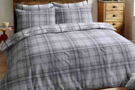 Groupon Goods Global GmbH - Pieridae Brushed Cotton Tartan Check Duvet Cover Set - Save 76%