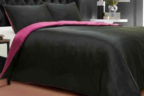 Groupon Goods Global GmbH - Silken Reversible Duvet Cover Set in Choice of Colour - Save 0%