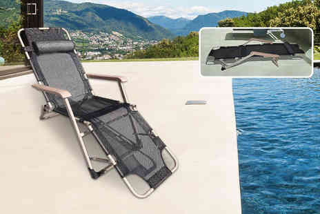 Your Essential Store - 2 in 1 zero gravity foldable reclining chair and lounger with pillow - Save 70%