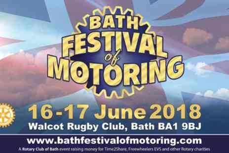 Bath Festival Of Motoring - Ticket to Bath Festival of Motoring 16 or 17 June - Save 50%