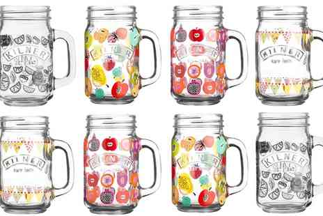 Groupon Goods Global GmbH - Four or Eight Kilner Handled Jars in Choice of Design - Save 0%