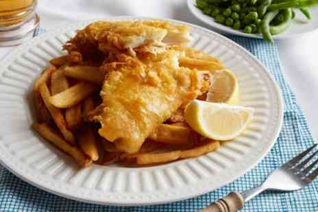 Dykes End - Beer Battered Fish and Chips for One or Two - Save 33%