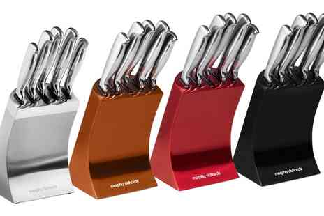 Groupon Goods Global GmbH - Morphy Richards Accents Five Piece Knife Block Set - Save 0%