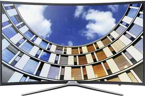 Groupon Goods Global GmbH -  Samsung UE49M6300 49 Inch Full HD Smart Curved TV With Free Delivery - Save 30%