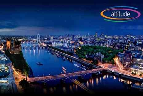 Altitude 360 - Three Course Dinner in the Sky Overlooking Central London - Save 70%
