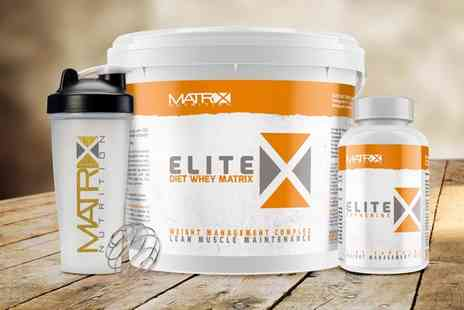Groupon Goods Global GmbH - Matrix Elite Muscle and Protein Set or Weight Management Set in Choice of Flavour - Save 0%