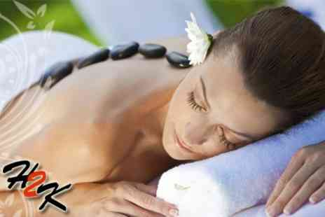 Hair 2K - Hot Stone Massage and Essential Facial - Save 63%