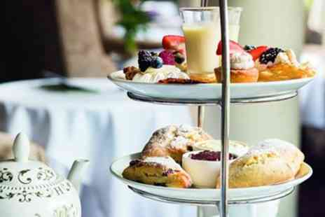 Brandshatch Place Hotel & Spa - Afternoon tea for 2 with bubbly in charming Kent manor - Save 36%