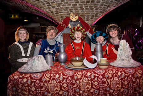 The Medieval Banquet - Four course medieval royal wedding and bottle of Prosecco for two people including unlimited drinks during the meal - Save 47%