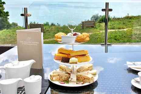 The Headland Hotel - Afternoon tea w/bubbly & spa access for 2 - Save 43%