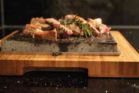 Hot Stone - Two Course Japanese Meal and Glass of Wine or Sake for Two or Four - Save 52%