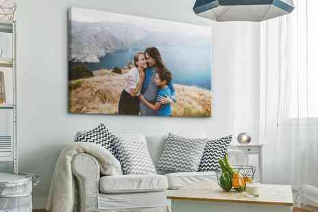 Photo Gifts - Personalised Extra Large Canvas Print in a Choice of Size - Save 71%