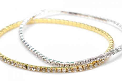 Romatco - Crystal Anklet Made With Swarovski Elements Available in 2 Colours - Save 68%