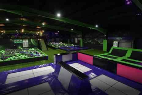 Flip Out Leicester - One Hour Trampoline Park Standard Jump for One or Two People - Save 32%