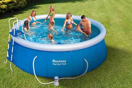 Games & Fitness - 8ft, 10ft,12ft,or 15ft  fast set swimming pool with pump - Save 62%