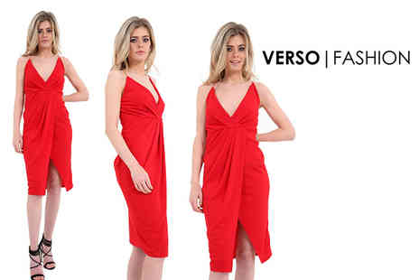 Verso Fashion - Strappy red cocktail dress - Save 75%