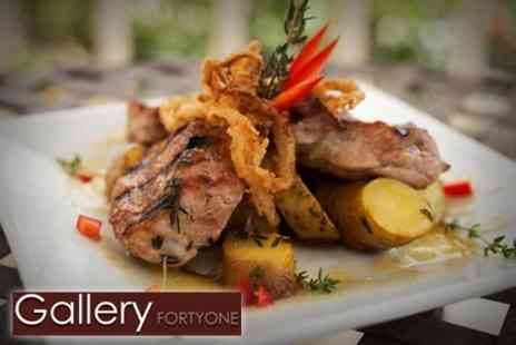 Gallery FortyOne - Two Course Italian Meal For Two - Save 60%
